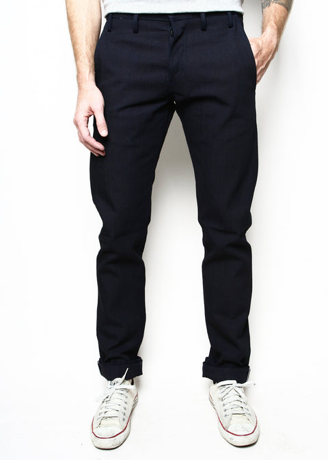 Rogue Territory Indigo Selvedge Canvas Officer Trousers