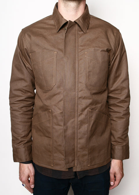 ogue Territory Infantry Jacket Lined Brown Canvas