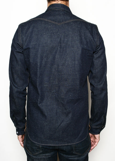 Rogue Territory Neppy Denim Western Shirt