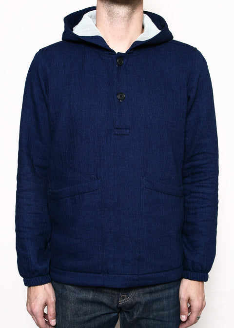 Hooded Anorak // Double Indigo Gauze