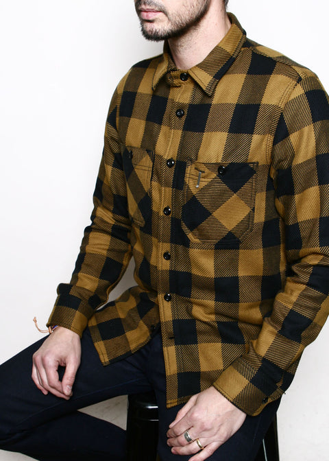 BM Shirt // Gold Buffalo Plaid