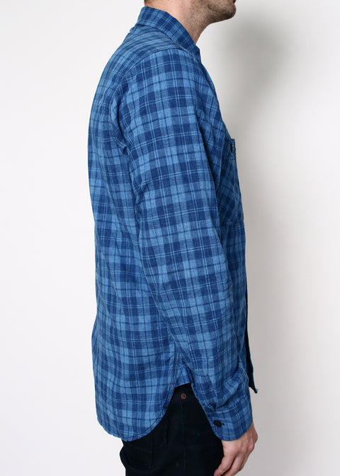 BM Work Shirt // Vintage Indigo Plaid