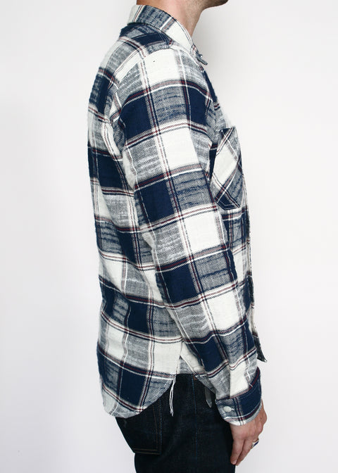 BM Work Shirt // Khaki/Navy Neppy Plaid
