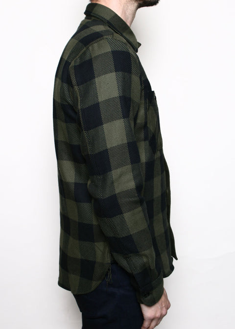 BM Shirt // Olive Buffalo Plaid