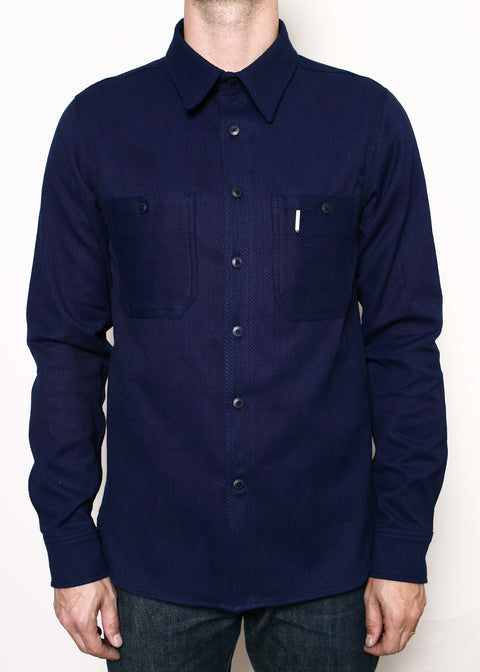 BM Work Shirt // Double Indigo Sashiko