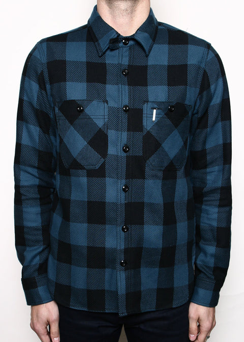 BM Shirt // Teal Buffalo Plaid