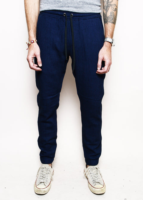 Boarder Pants // Indigo Double Gauze
