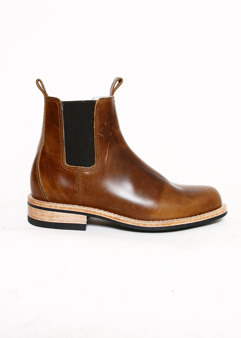 Chelsea Boots // Light Brown Waxed Leather