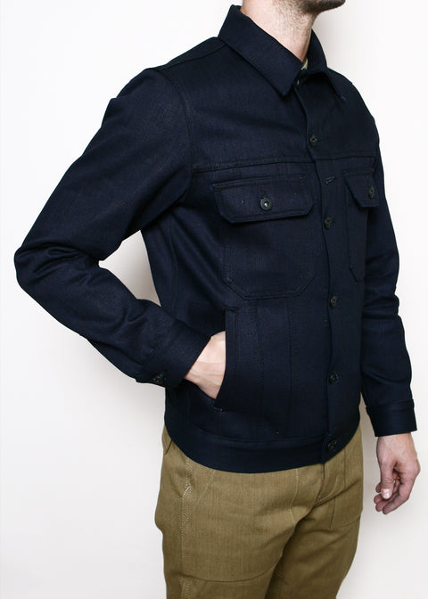 Cruiser Jacket // 16.75oz Double Indigo Slub