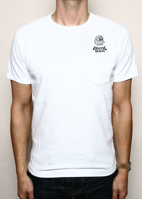 Pocket T-Shirt // Cryptic White