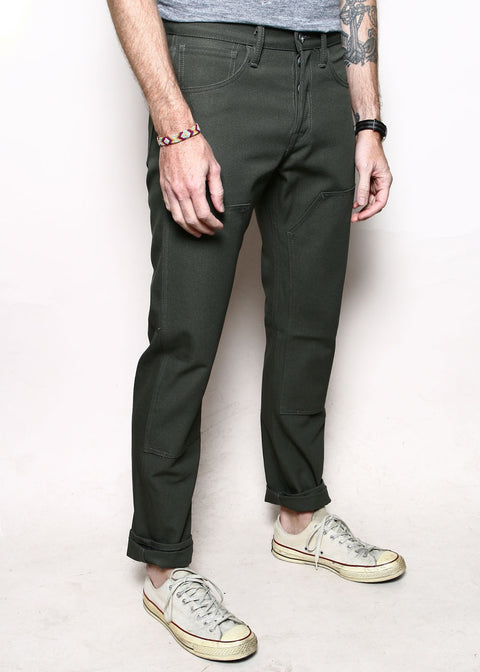 Double Knee Stanton // 12oz Olive