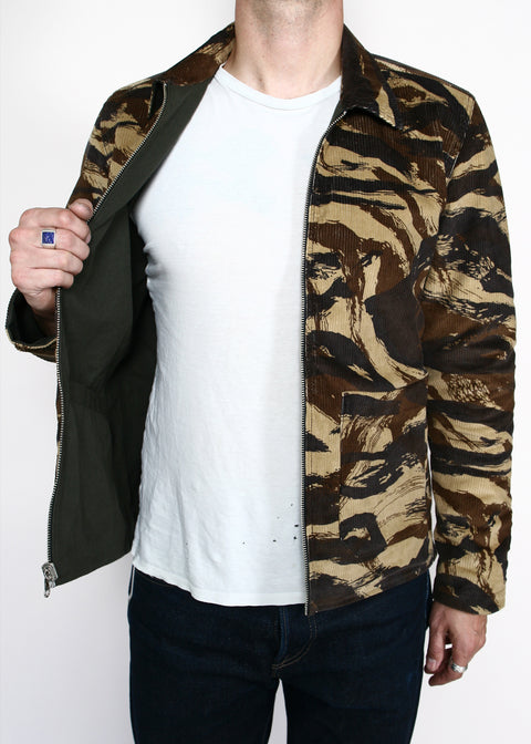 Engineer Jacket // Reversible Pine/Lizard Camo Corduroy