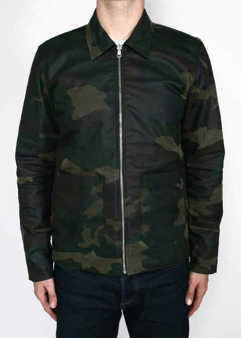 Engineer Jacket // Reversible Black/Camo Waxed Canvas