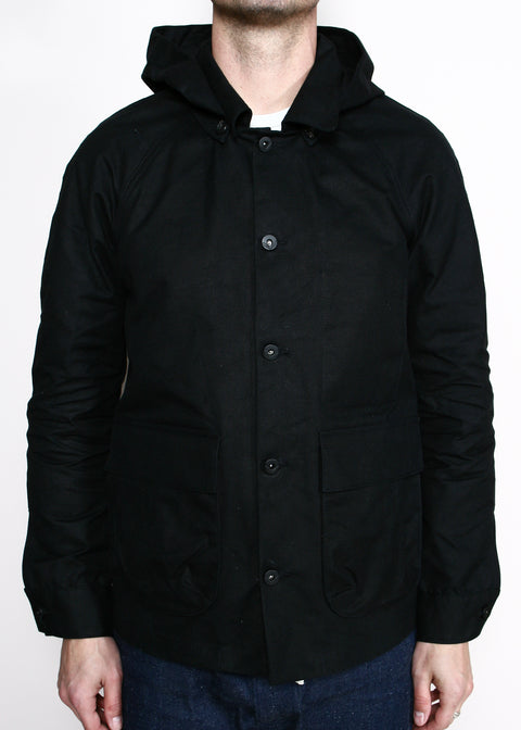 Explorer Jacket w/ Removable Hood // Black Canvas