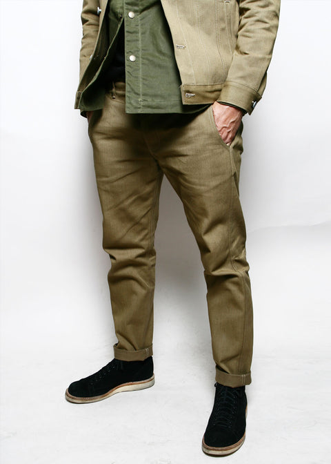 Infantry Pants // Tan Denim
