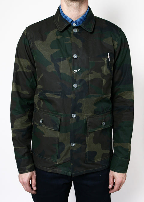 Field Jacket // Waxed Olive Camo