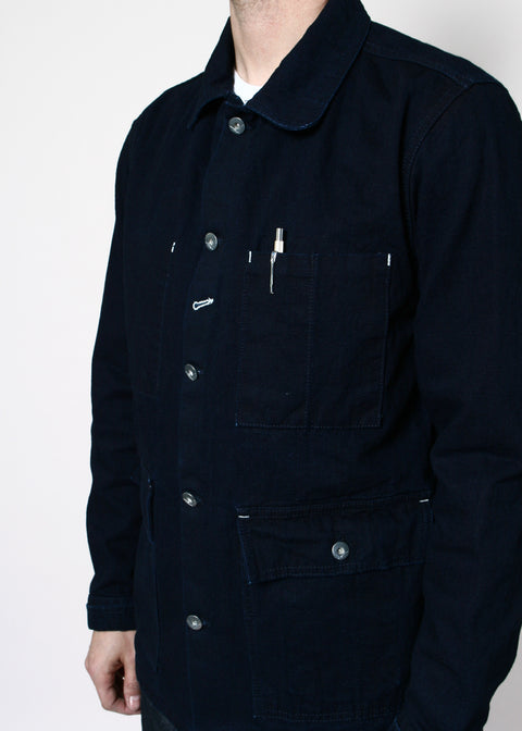 Field Jacket // Rinsed Indigo Selvedge Canvas