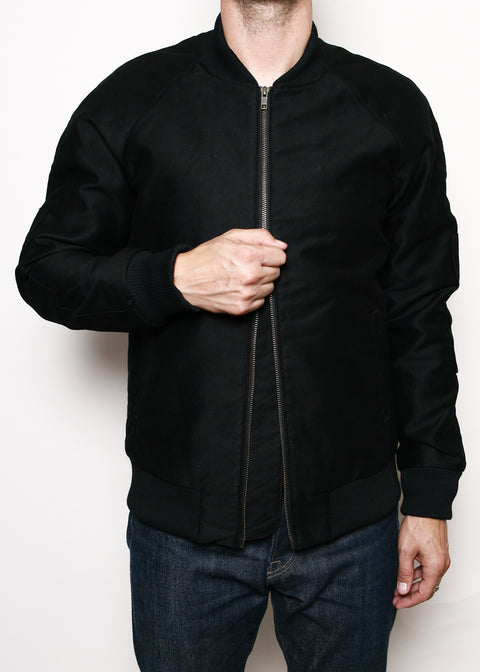 Flight Jacket // Lined Black Jungle Cloth