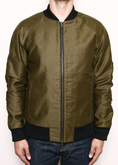 Flight Jacket // Lined Olive Jungle Cloth