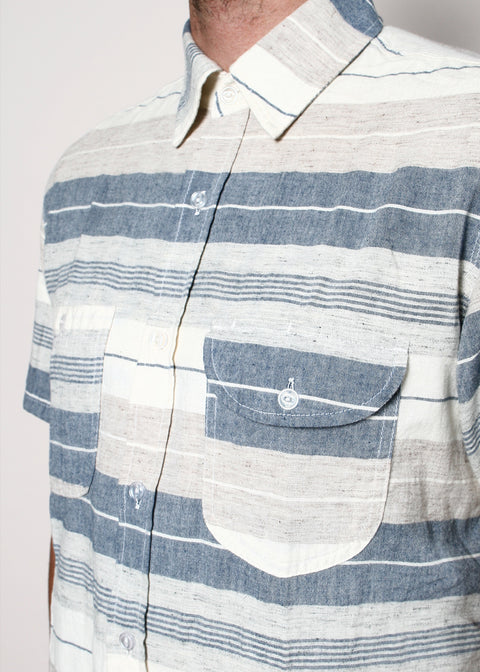 Short-Sleeve Work Shirt // Fun Stripe