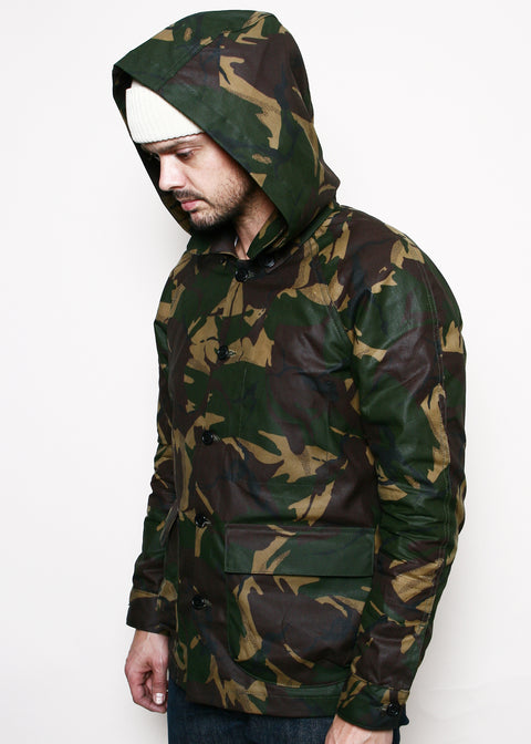 Explorer Jacket w/ Removable Hood // Waxed Camo