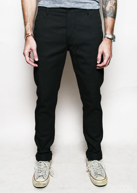 Infantry Pants // Faded Black Denim