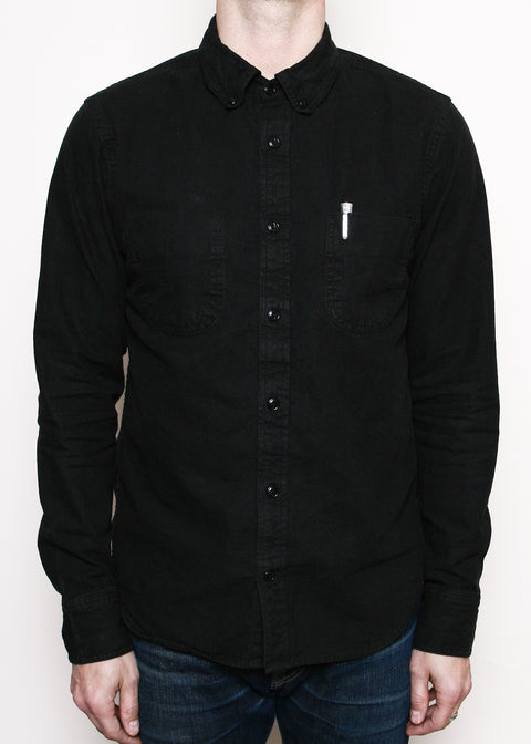 Jumper Shirt // Overdyed Black Chambray