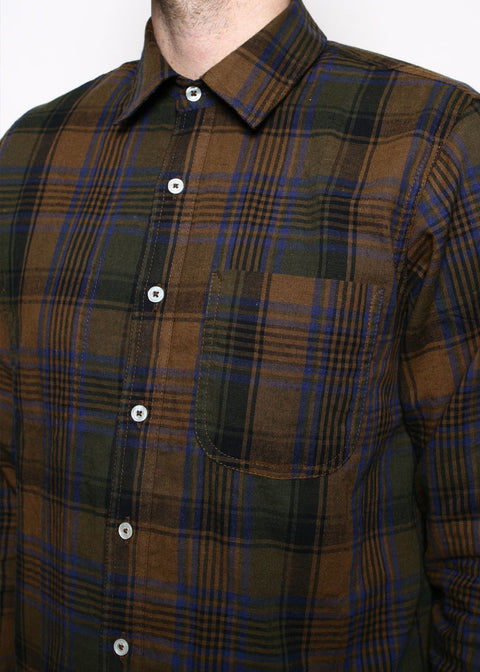 Jumper Shirt // Brown Plaid