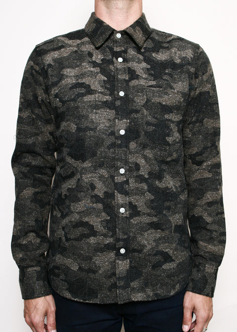 Jumper Shirt // Brushed Camo Flannel