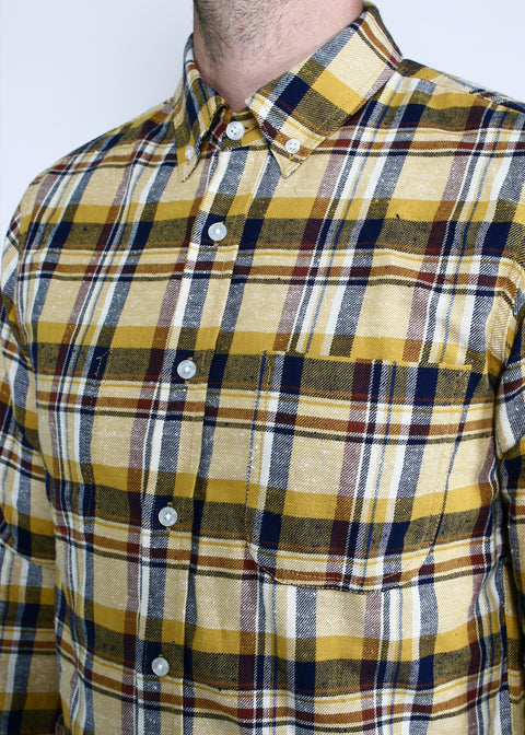 Jumper Shirt // Gold Neppy Plaid