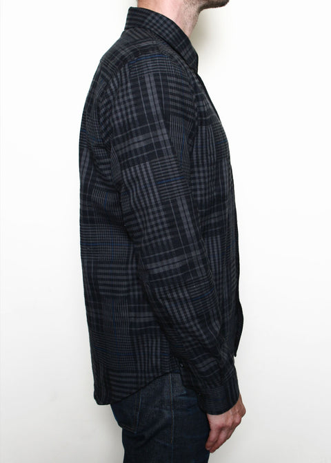 Jumper Shirt // Grey Abstract Plaid