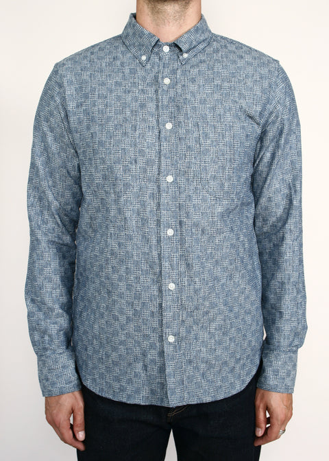 Jumper Shirt // Light Indigo Jacquard
