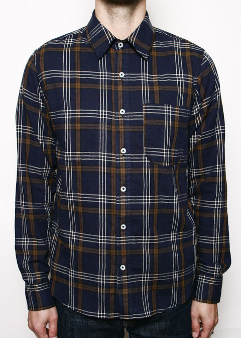 Jumper Shirt // Navy Plaid