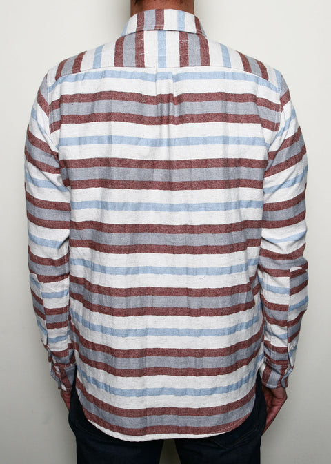 Jumper Shirt // Rust Stripe