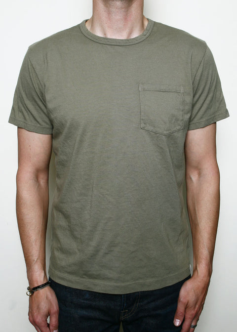 Pocket T-Shirt // Faded Olive
