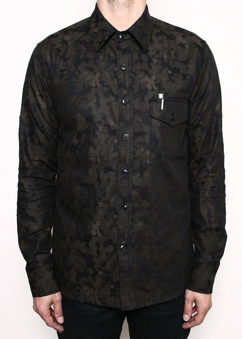 Oxford Work Shirt // Brown Camo