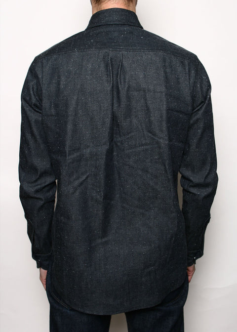 Oxford Shirt // Neppy Black Denim