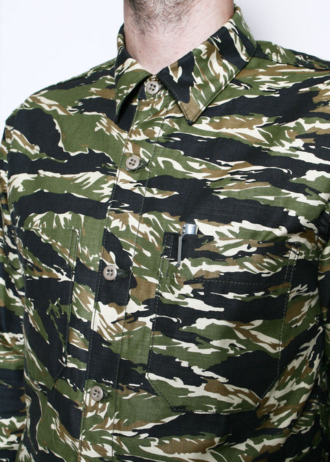 Patrol Shirt // Tiger Stripe Camo
