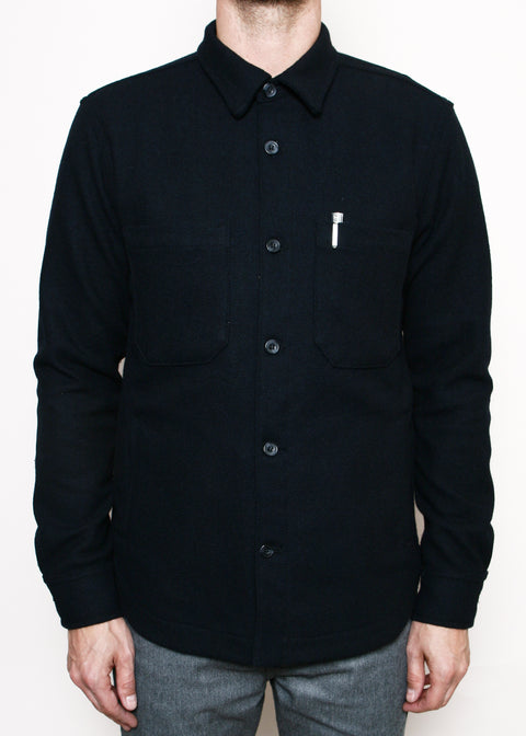 Patrol Shirt // Navy Blended Wool