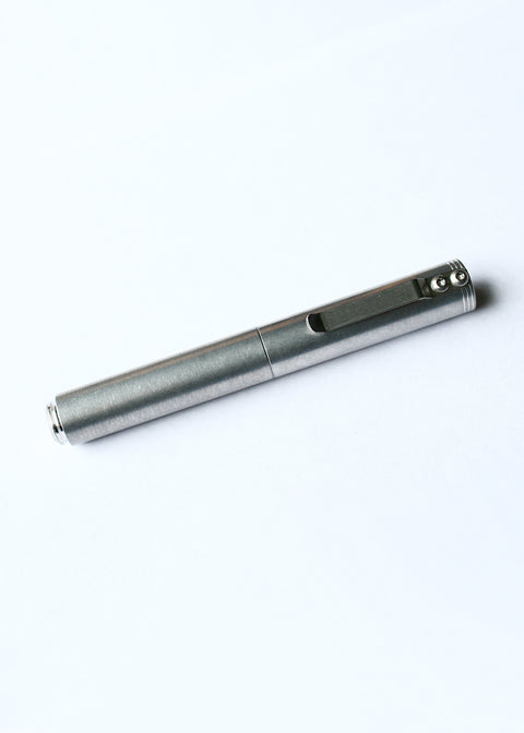 Classic Machined Pen // Tumbled Aluminum