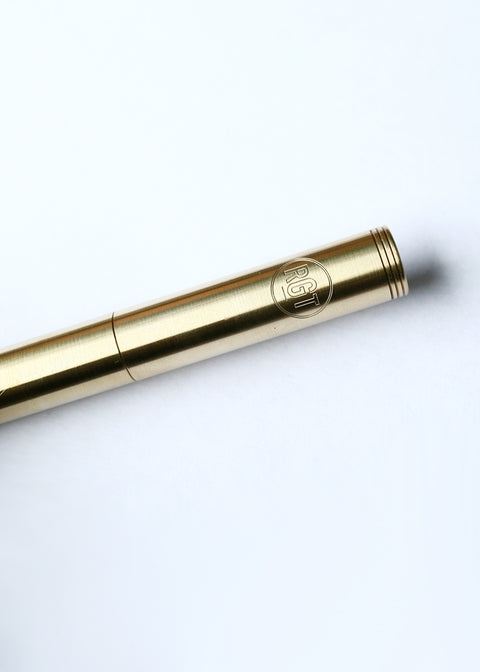 Classic Machined Pen // Polished Brass