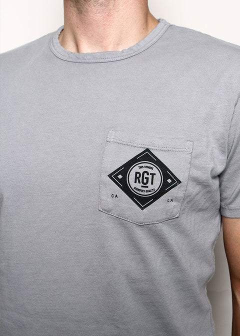 Pocket T-Shirt // Logo Grey