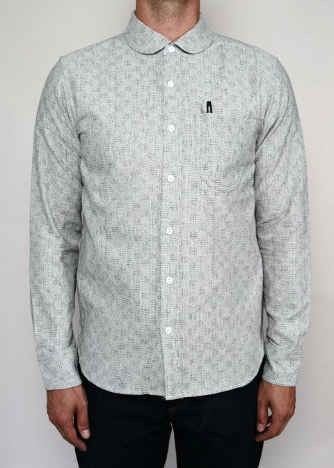 Traveler Shirt // Grey Jacquard