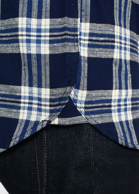 Traveler Shirt // Neppy Navy Plaid