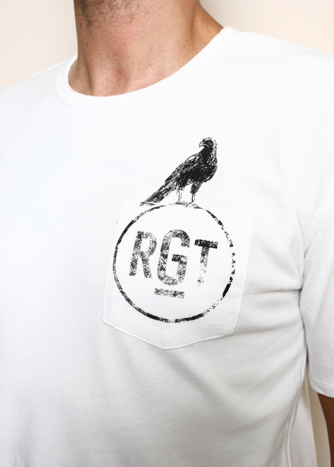 Pocket T-Shirt // Hawk Logo