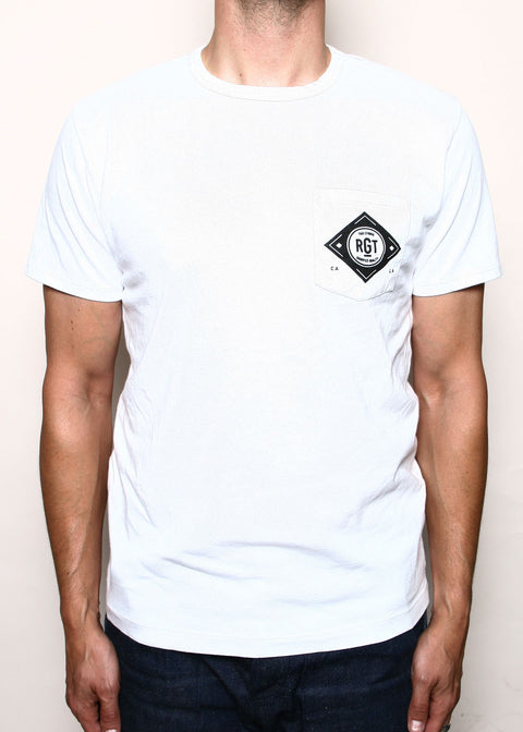 Pocket T-Shirt // Logo White