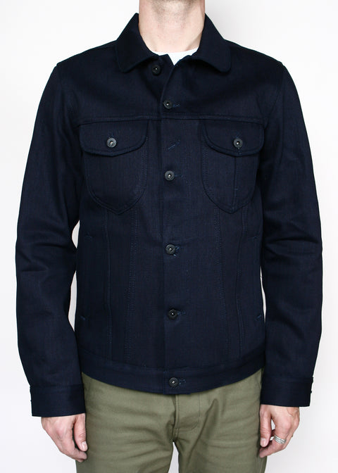 Type III Jacket // 16.75oz Double Indigo Slub
