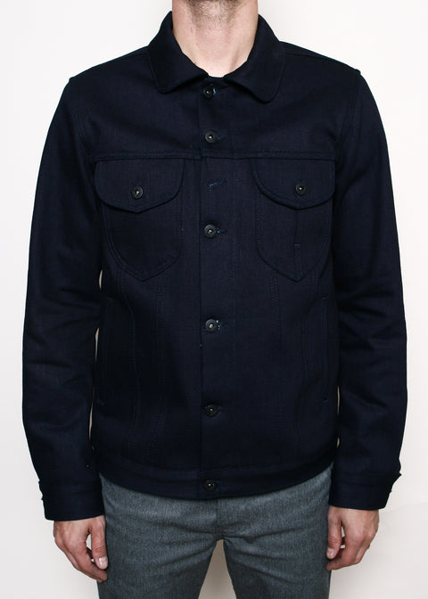 Type III Jacket // 16.75oz Double Indigo Slub Blanket Lined