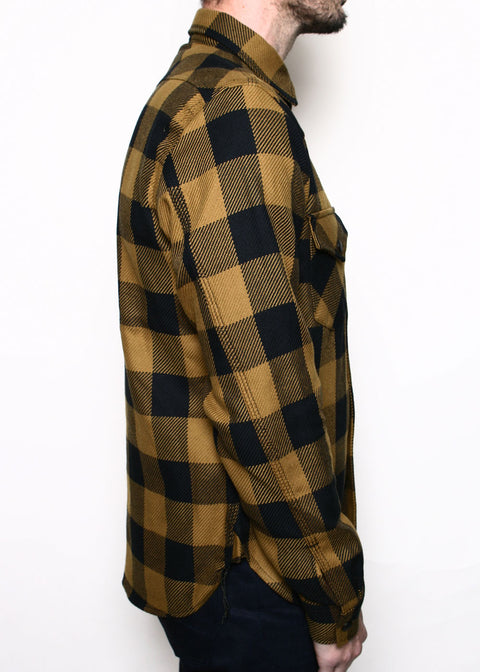 Western Shirt // Gold Buffalo Plaid