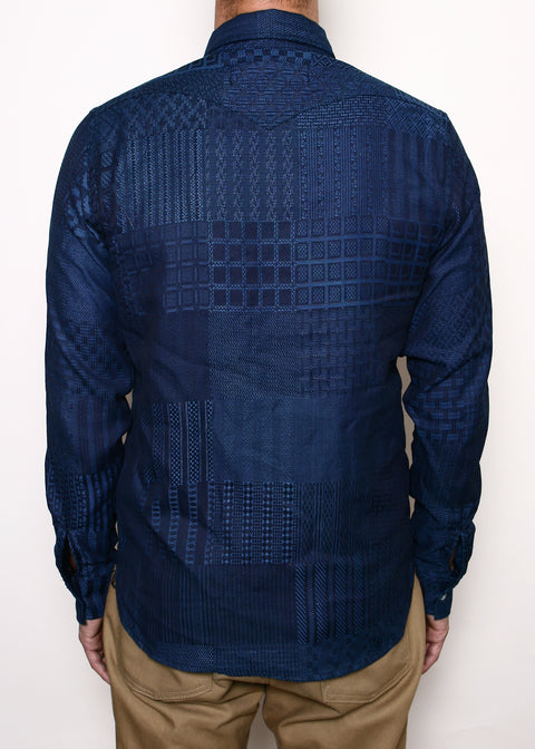 Western Shirt // Light Indigo Patchwork